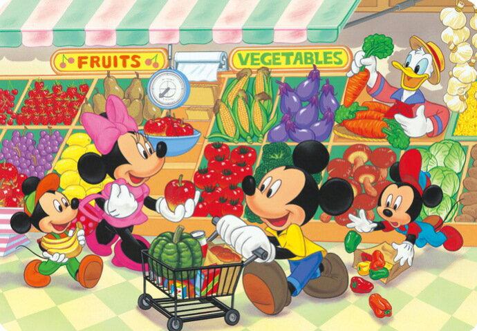 ディズニー 子供向けパズル 幼児 40ピース 子供向けジグソーパズル ディズニー スーパーでおかいもの シルエットピースシリーズ チャイルドパズル(DC-40-013)[テンヨー] 【梱80cm】t101