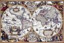 地図 1000ピース ジグソーパズル 古地図 アンティーク マップ マイクロピース (26x38cm)(M81-537)[ビバリー] t102