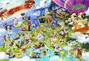 ディズニー ミッキーマウス 1000ピース ジグソーパズル ディズニー ファンタスティック ヨーロッパ(51x73.5cm)(D-1000-420)[テンヨー]...