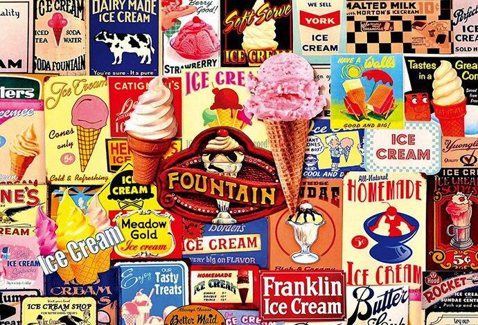 1000ピース ジグソーパズル ヴィンテージアート アイスクリーム(49x72cm)(31-438)[ビバリー] 【梱80cm】t101