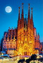 風景 1000ピース ジグソーパズル 世界遺産 月夜のサグラダ・ファミリア(49x72cm)(51-200)[ビバリー] t101