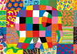 108ピース ジグソーパズル プリズムアート ぞうのエルマー エルマーのとくべつな日(18.2x25.7cm)(61-24)[やのまん] t101