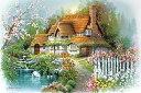1000ピース ジグソーパズル 花香るせせらぎの庭(50x75cm)(1000-773)[アップルワン] t101の画像