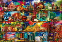 ジグソーパズル 1000ピース エイミー・スチュアート 世界旅行の本棚(49x72cm)(31-468) ビバリー 梱80cm t101