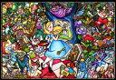 ディズニー ふしぎの国のアリス 1000ピース ジグソーパズル ピュアホワイト ふしぎの国のアリス ストーリーステンドグラス(51x73.5cm) (DP-1000-027)[テンヨー] t106の画像