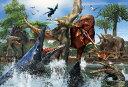 【あす楽】恐竜 150ピース ジグソーパズル ティラノサウルス VS モササウルス ラージピース(26×38cm) (L74-168) ビバリー 【梱60cm】t101