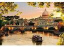 ジグソーパズル 300ピース ジグソーパズル 夕映えのサン・ピエトロ大聖堂 (26x38cm)(300-350) アップルワン 梱60cm t100