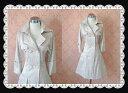 【アウトレット】 シルエットが綺麗なロールアップ袖がエレガントなスプリングコート