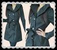 襟のデザインがとても素敵なリッチな光沢水玉上質秋冬コート