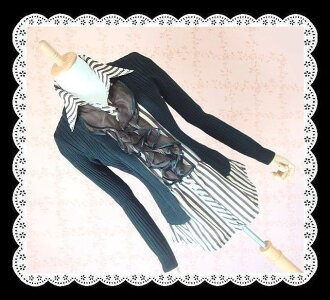 Two days only! All popular ストライプフリ Luang sample style knit ★ elegant and feminine