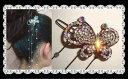 Jewelry, Accessories - 【メール便送料無料】 【ヘアピン】【3点選んで1万円(税別)対象商品】ゆらゆら光るラインストーンが綺麗な大きな蝶々ヘアピン(浴衣・ 髪型 アレンジ・パッチン留め・髪飾り・まとめ髪・ヘアアクセサリー・ヘアアレンジ)
