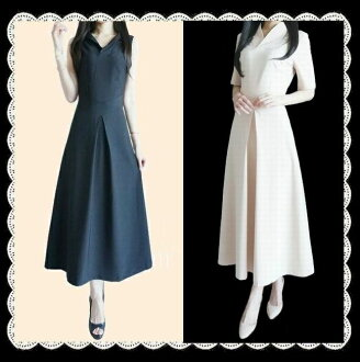 Popular ★ slender effects outstanding! 着痩せ Obi(belt) attached piece! And cool! Long 立て襟 ab06221 black (Maxi sleeveless Maxi dress A line)