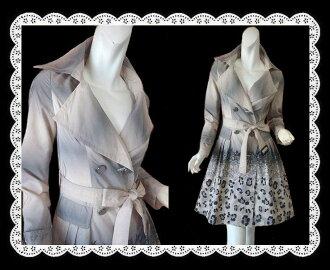 A nice print spring coat a beautiful gradient