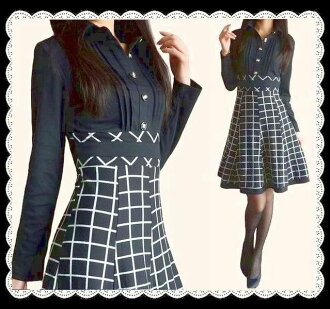 Two days only! All 着痩せ! Switch check pattern stretch piece a beautiful leg effect ★ high-waisted silhouette