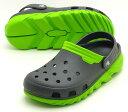crocs duet max clog201398-0A1クロックスデュエット マックス クロッグgraphite/volt green