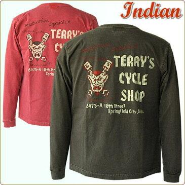 インディアンモーターサイクル 新作  バイカーズデザインコットン ロンT  [Terry's Cycle Shop] U.S.A