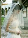 ふんわりキュートな愛されベールウェディングベール【メロウパールのショートベール】結婚式/ヴェール/ウェディング