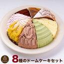 色々と楽しめる!8種のドーム型ケーキセット7号21.0cmカット済み送料無料(※一部地域除く)誕生日ケーキバースデーケーキ【ZK】