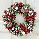 【送料無料】自然素材のクリスマス・リースが2種類!!どのクリスマスリースも可愛いです♪【送料無料 クリスマスリース 装飾 雑貨 玄関ドア 壁掛け おしゃれ 人気】
