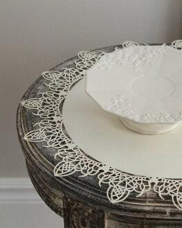 花邊 AMI 種族是餐墊 Mar L 大小 3 白色黑色 [aGarey / 同意 / 午餐墊 / 製作 / 墊 / 餐墊 / 2 時尚套