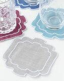 オーバル コースター 13色【LA GALLINA MATTA(ラガッリーナマッタ)・イタリア製・コースター・敷物・リネン・麻・撥水加工】