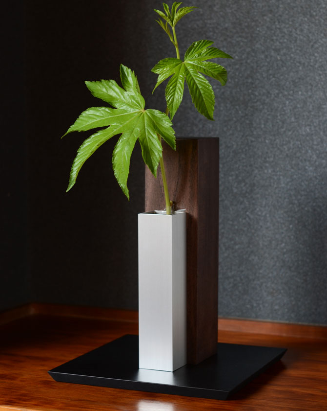 【期間限定ポイント10倍】MUKU 柱 ブラウン Sサイズ MUL-2【ALART/アルアート/花器/花びん/花瓶/フラワーベース/一輪挿し】