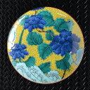 5号皿 古九谷青手土坡に牡丹図 MC-503【九谷焼/和食器/おしゃれ/日本製/磁器/和モダン/MADE IN JAPAN/中皿/丸皿】