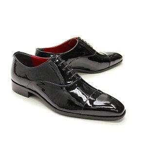 クインクラシコQueenClassico靴メンズドレスエナメルストレートチップ41008(41008,BK)【送料無料】ブラック