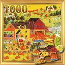 ジグソーパズル1000ピース ジグソーパズル カボチャファーム イラスト 風景パズル サイズ735×510mm 付属品 パズル パズルリキッ...