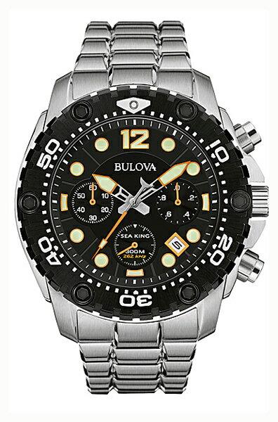 【送料無料】国内正規品 BULOVA[ブローバ]SEA KING 〔シーキング〕UHF クォーツ搭載 メンズ腕時計 98B244【RCP】【02P05Sep15】 【期間限定 ポイント10倍】