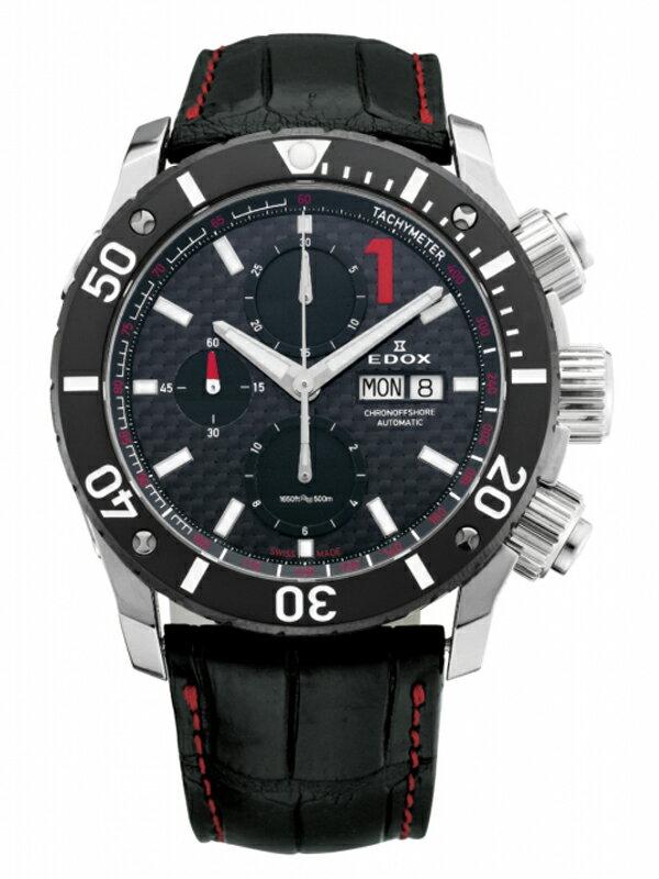 【送料無料】EDOX エドックス クロノオフショア1 CHRONOGRAPH AUTOMATIC メンズ腕時計 01114-3-NIN-L 正規品【新品】【RCP】【02P03Dec16 】 【期間限定 ポイント10倍】