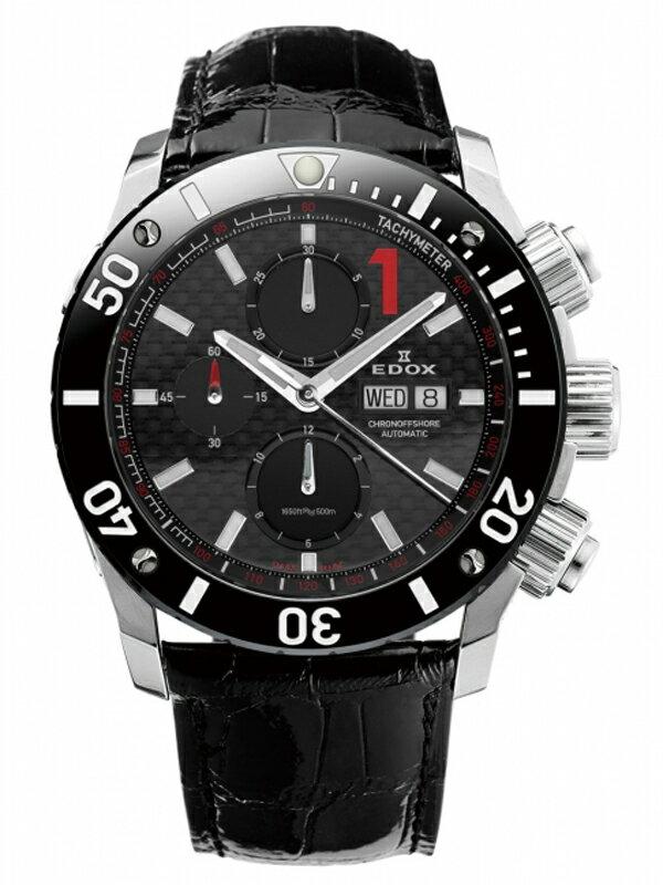 【送料無料】EDOX エドックス クロノオフショア1 CHRONOGRAPH AUTOMATIC メンズ腕時計 01114-3-NIN-L2 正規品【新品】【RCP】【02P03Dec16 】 【期間限定 ポイント10倍】