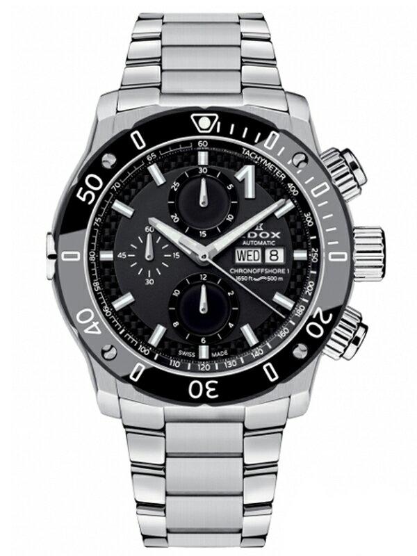 【送料無料】EDOX エドックス クロノオフショア1 CHRONOGRAPH AUTOMATIC メンズ腕時計 01122-3M-NIN 正規品【新品】【RCP】【02P03Dec16 】 【期間限定 ポイント10倍】