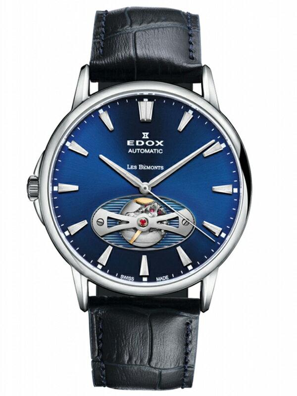 正規品【送料無料】 EDOX エドックス レ・ベモン オープンハート メンズ腕時計 85021-3-BUIN【新品】【RCP】【02P03Dec16】 【期間限定 ポイント10倍】