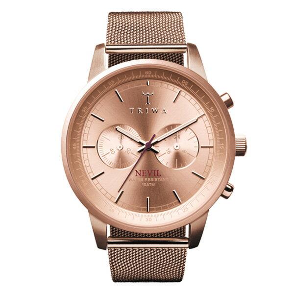 【送料無料】 国内正規品 TRIWA トリワ STEEL NEVIL Rose メンズ/レディース腕時計 NEST105-ME021414【新品】【RCP】【02P12Oct14】 ポイント10倍