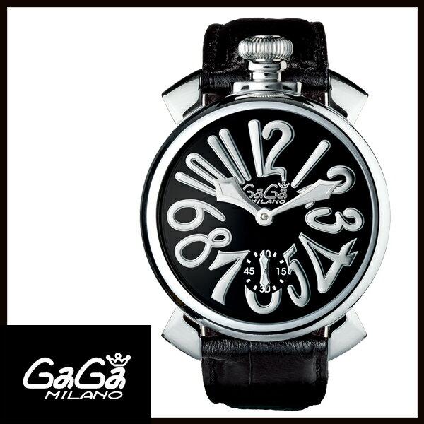 【送料無料】  GAGA MILANO ガガミラノ  MANUALE 48MM  マニュアーレ 48mm ステンレス メンズ腕時計 5010.04S 【新品】 【RCP】【02P12Oct14】 5倍ポイント★1年保証【国内正規品】