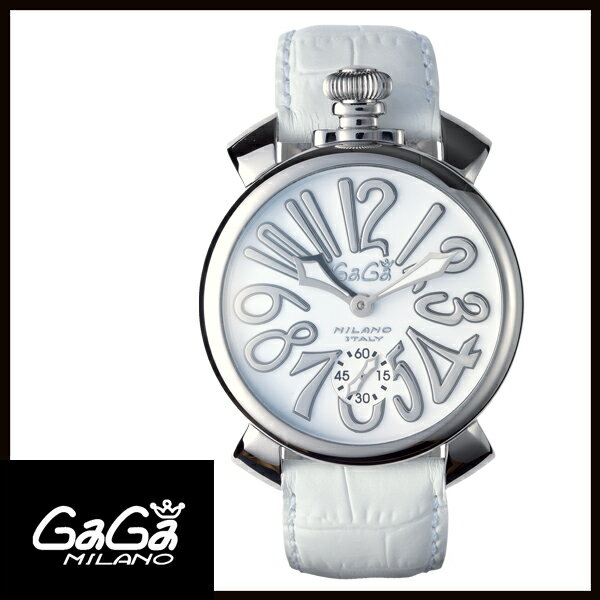 【送料無料】  GAGA MILANO ガガミラノ  MANUALE 48MM  マニュアーレ 48mm ステンレス メンズ腕時計 5010.10S 【新品】 【RCP】【02P12Oct14】 5倍ポイント★1年保証【国内正規品】