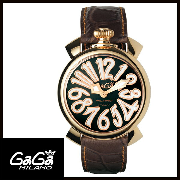 【送料無料】 国内正規品 GAGA MILANO ガガミラノ MANUALE 40MM GOLD PLATED レディース腕時計 5021.3【新品】【RCP】【02P12Oct14】 ポイント5倍★1年保証