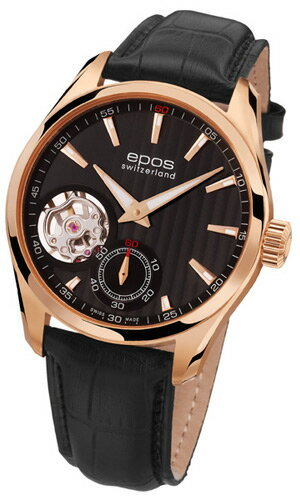 Men's automatic self-winding EPOS passion open heart 3403 OHRGPBK fs3gm