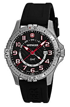 WENGER men's watches Squadron GMT 77075 fs3gm