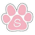 アイロンプリントシール【肉球S】大 ピンク