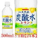 伊賀の天然水 炭酸水レモン 500mlペット×1箱【24本】【サンガリア/SANGARIA】