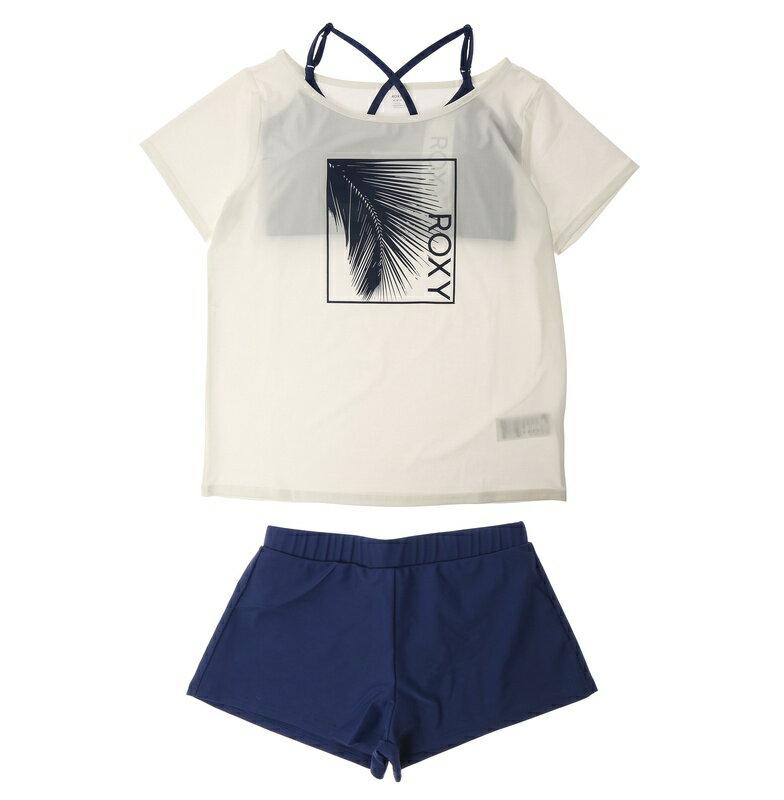 roxy|アウトレット価格 ROXY ロキシー ラッシュTシャツ付き 3点セット LEAF ROXY ビキニ...