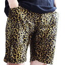 【ZULU】ROCK 豹柄 ショートパンツ ヒョウ柄 レオパード ショートパンツ メンズ 短パン ハーフパンツ レギンス ロック フェス 野外