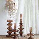 キャンドルホルダー フラワーベース 花瓶 変形 韓国雑貨 韓国インテリア シンプル モダン おしゃれ ブラウン