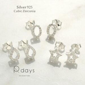 ★ Silver925 キュービックジルコニア ピアス ★ スター