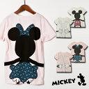 【公式】キッズ ミッキーマウス ポケット付き 半袖Tシャツ ディズニー 女の子 140cm 150cm 160cm 女の子 ホワイト ピンク 子供 ジュニア