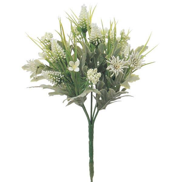 《 造花 》Asca/アスカ ミックスフラワーブッシュ ホワイトインテリア インテリアフラワー