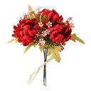 《 造花 》◆とりよせ品◆Parer マムバンドル レッド(1束3本) 和 菊
