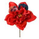 《 造花 》◆とりよせ品◆Parer ちりめんダリア レッド インテリア インテリアフラワー